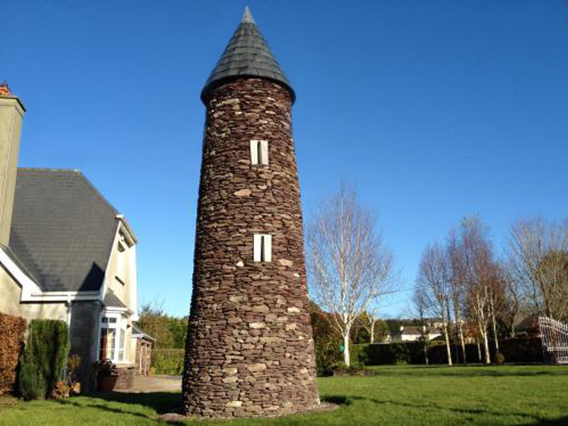 Round Tower constructed with O'Neills Red Sandstone