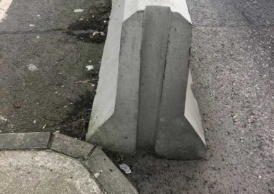 precast products concrete road blocks