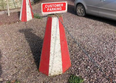 precast products concrete signpost