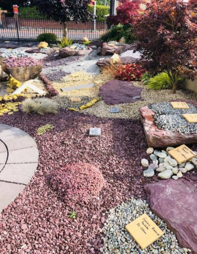 Landscape design with Plum Slate