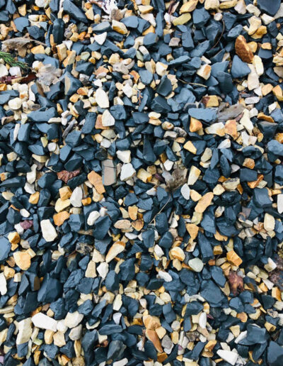 Gold and Pewter Grey Slate Mulch 40mm-60mm